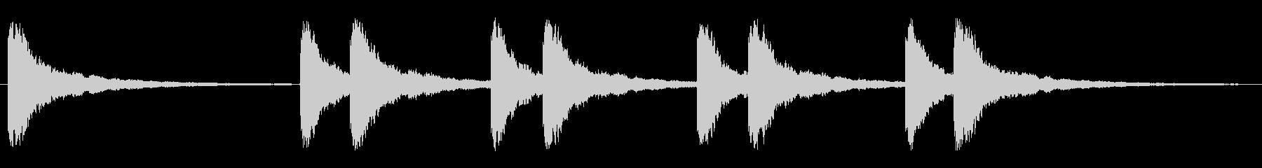 教会の鐘(長めの音)の未再生の波形