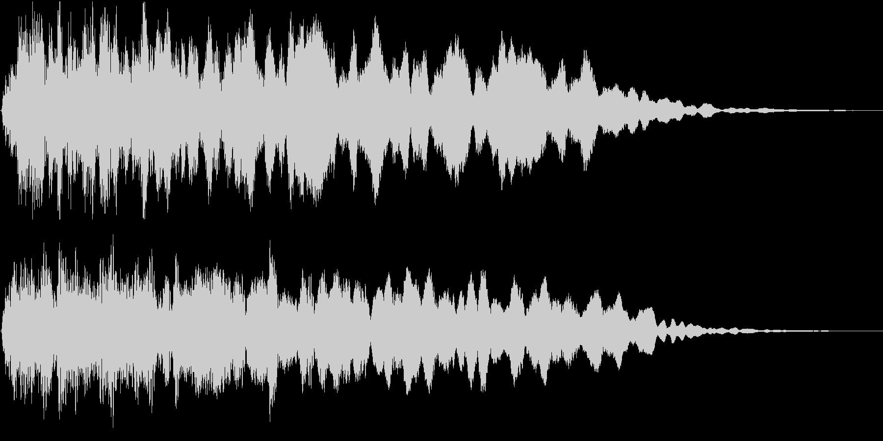 空間的なパッドの効果音です。の未再生の波形