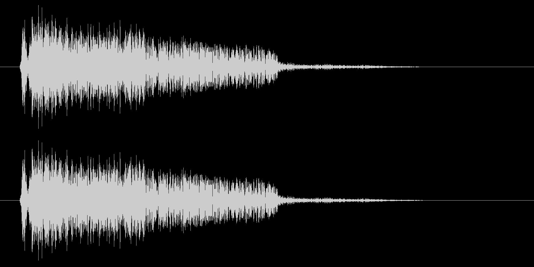 ヒュオ~ン(コミカルなUFOの飛行音)の未再生の波形