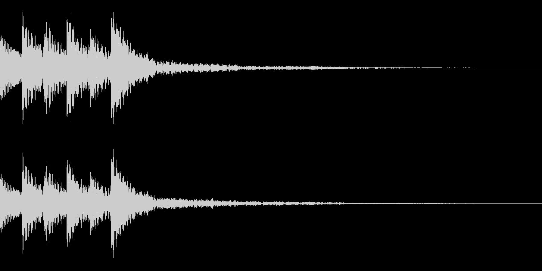木琴 SE01の未再生の波形