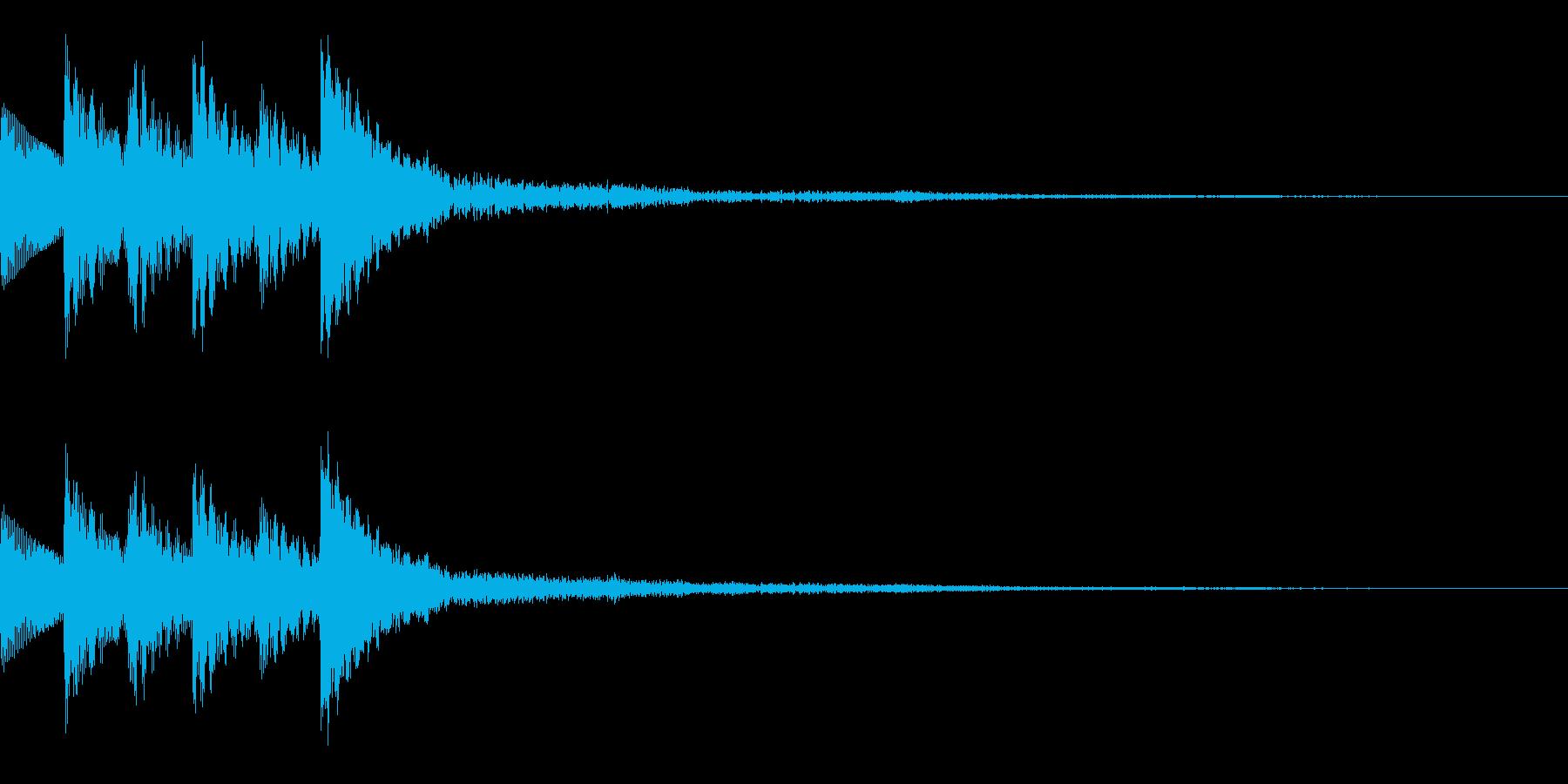 木琴 SE01の再生済みの波形