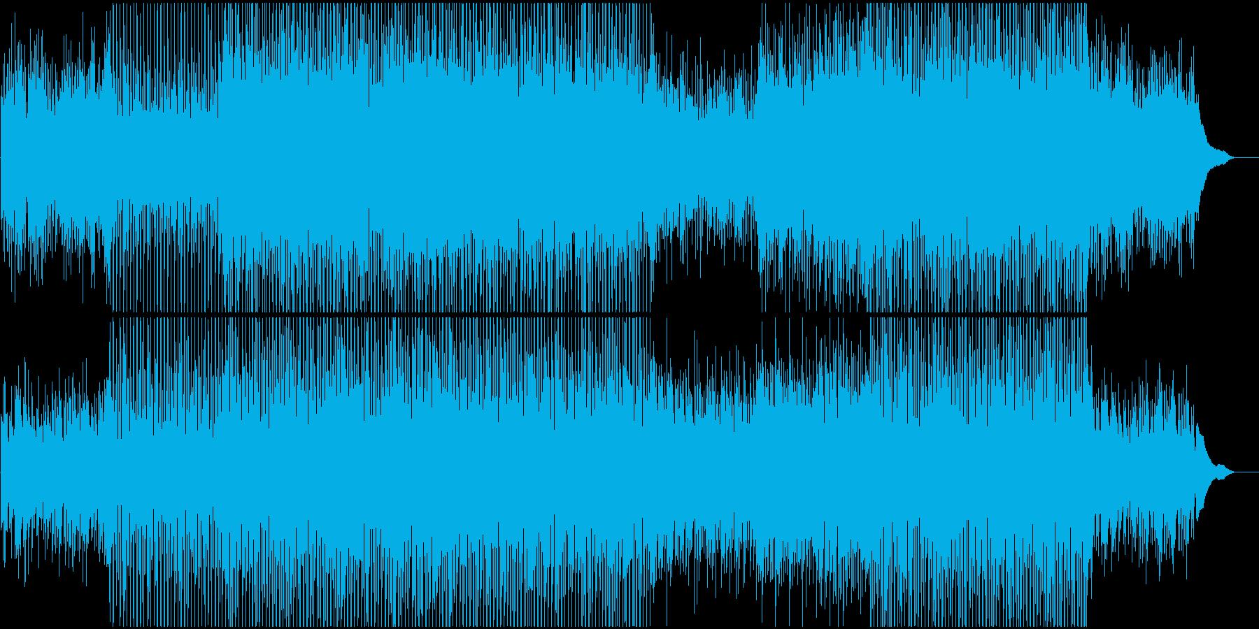 企業VPや映像に 感動的ピアノと四つ打ちの再生済みの波形