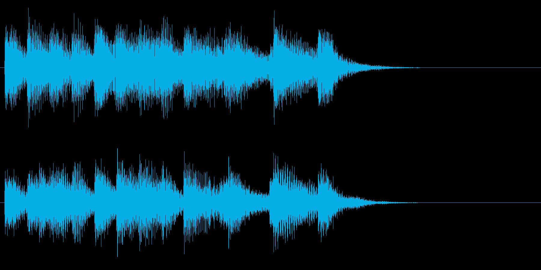 お茶目なピアノのキュートなジングルの再生済みの波形
