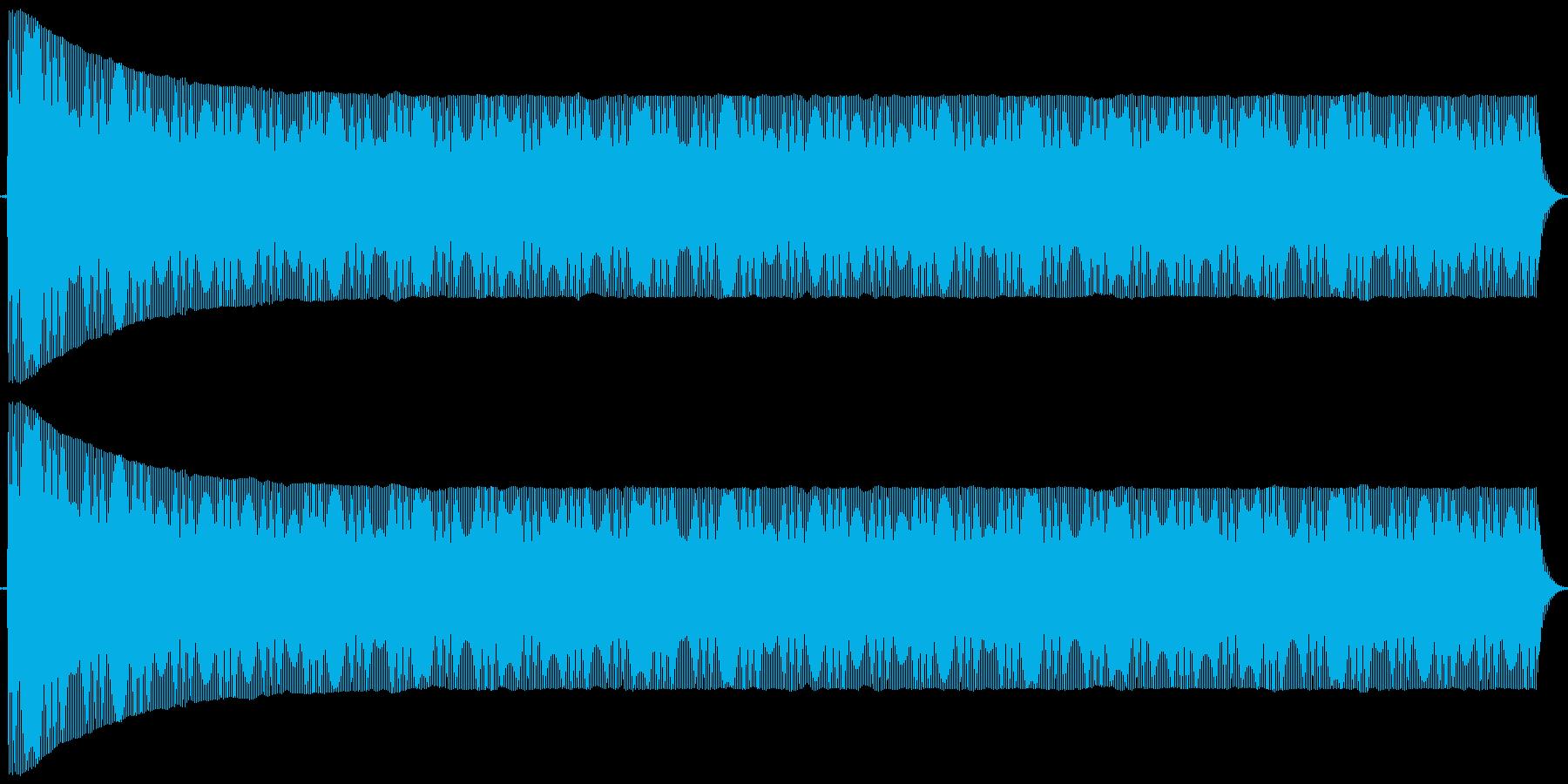 ポヨヨヨ。言葉を伏せる音(低)の再生済みの波形