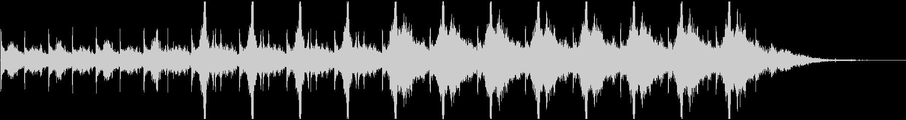 不気味な時計音(秒針リズム)の未再生の波形