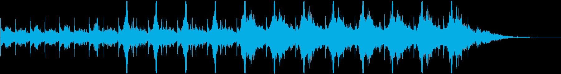不気味な時計音(秒針リズム)の再生済みの波形