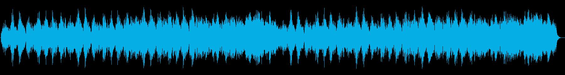 幻想的で神秘的なヒーリングミュージックの再生済みの波形