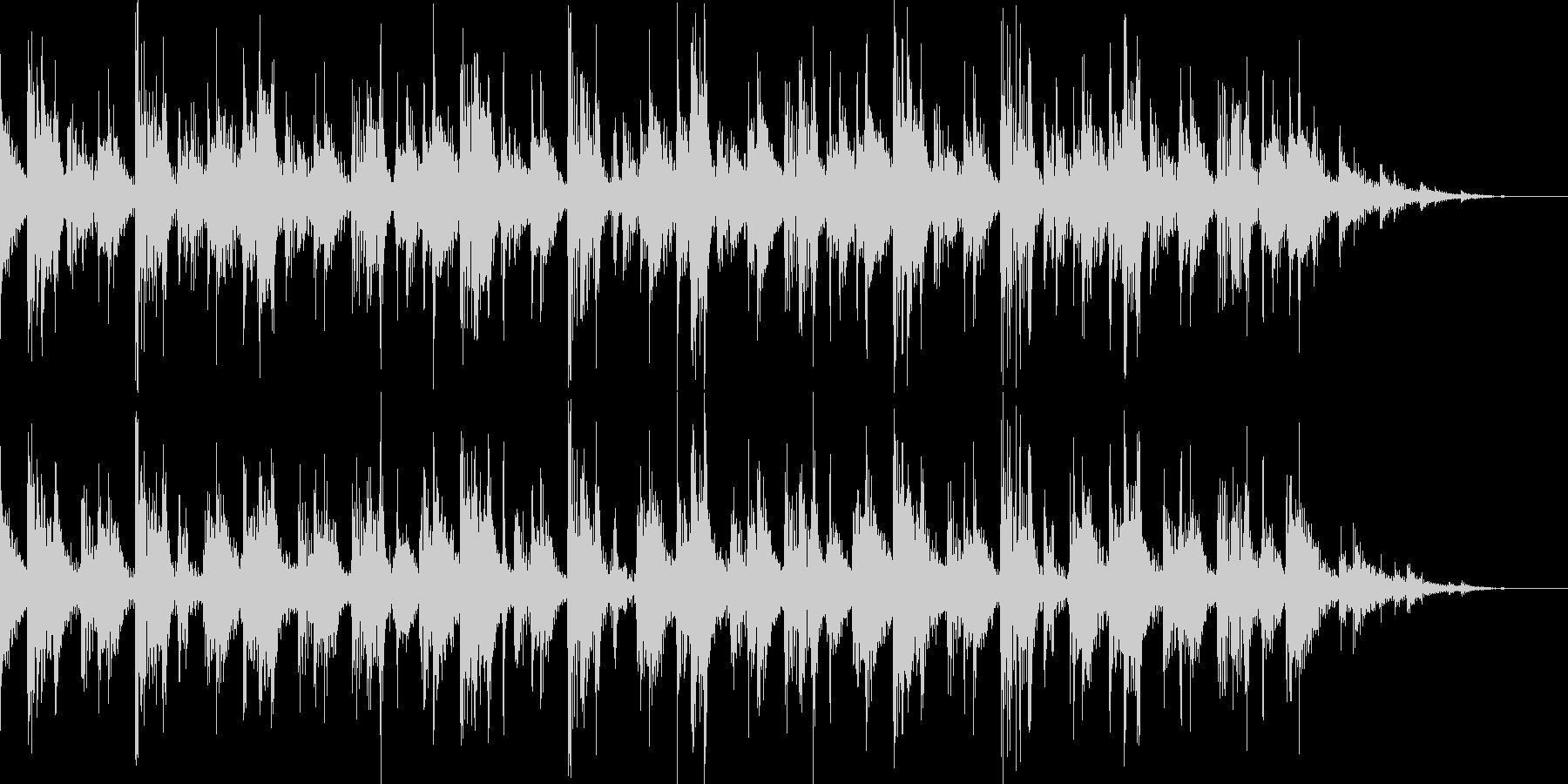 リラックスとしたBGMの未再生の波形