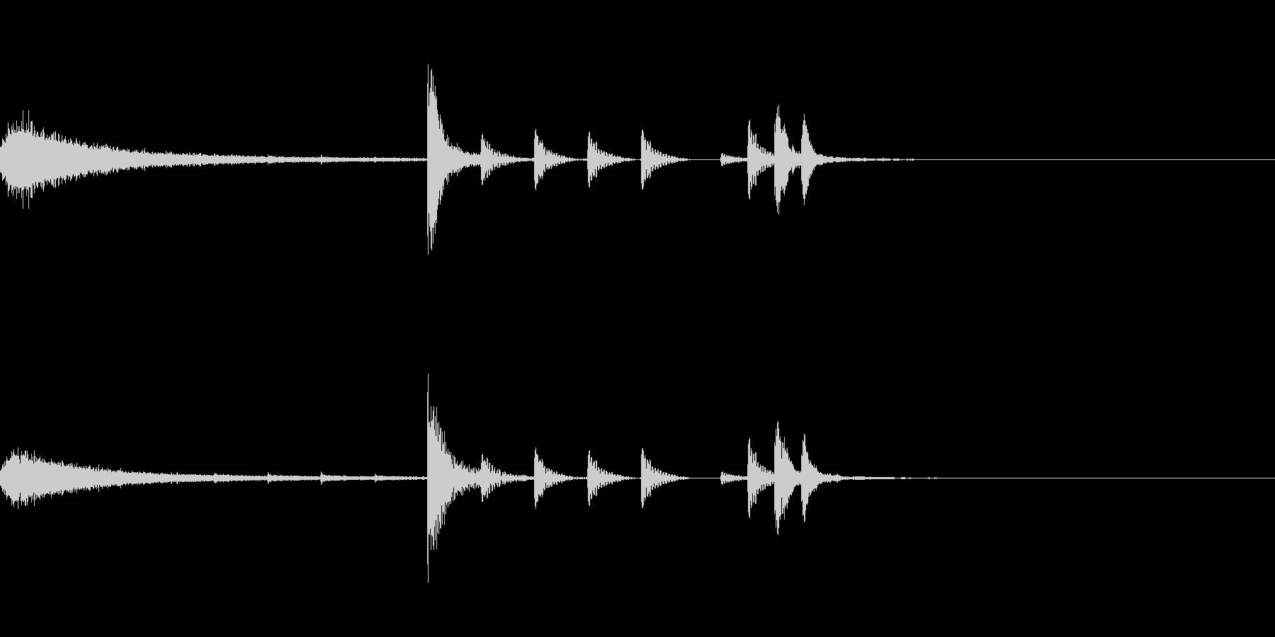 ドラムフレーズ エンディングの未再生の波形