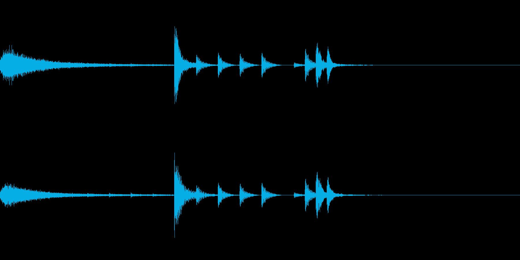 ドラムフレーズ エンディングの再生済みの波形