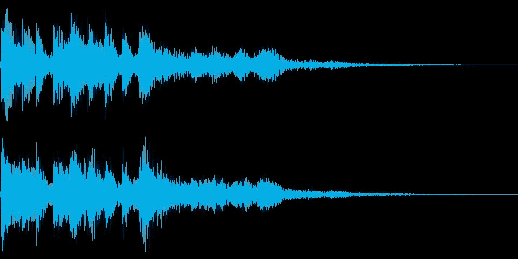 レトロなゲームオーバー音 8bit ミスの再生済みの波形