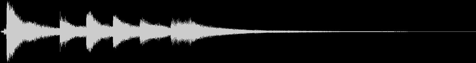 ピアノのショートジングルの未再生の波形