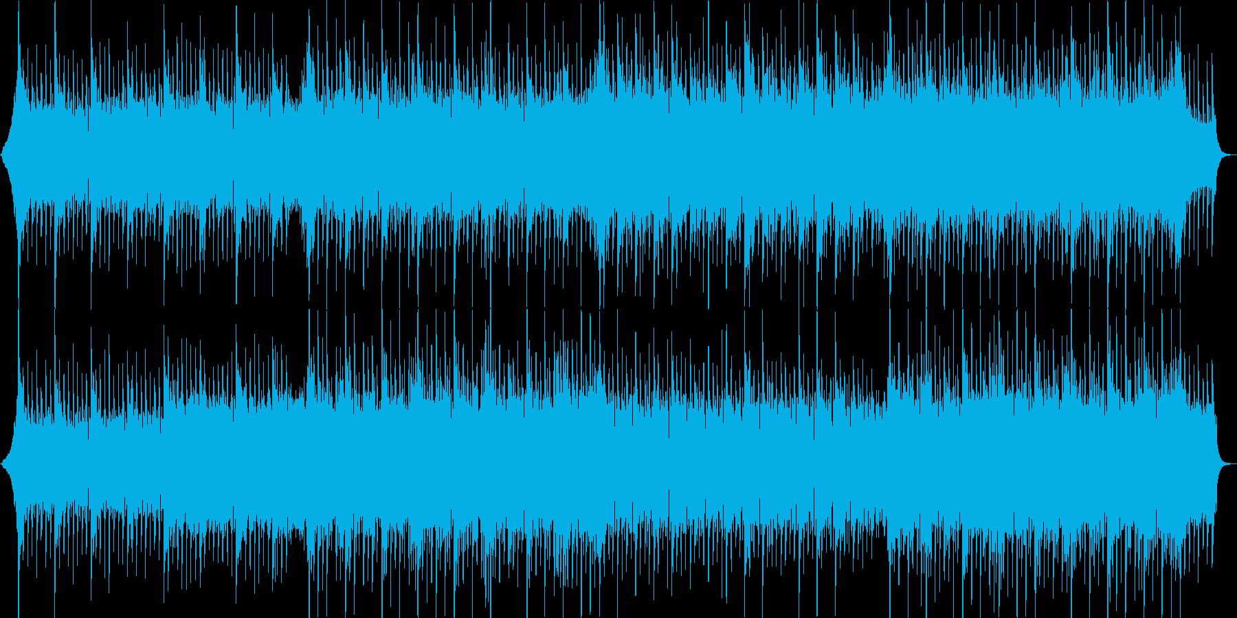 夏、四つ打ちロック系ポップの再生済みの波形