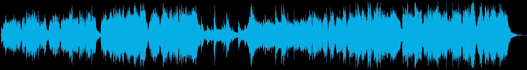 女声ヴォカリーズと和楽器の静謐な挿入歌の再生済みの波形