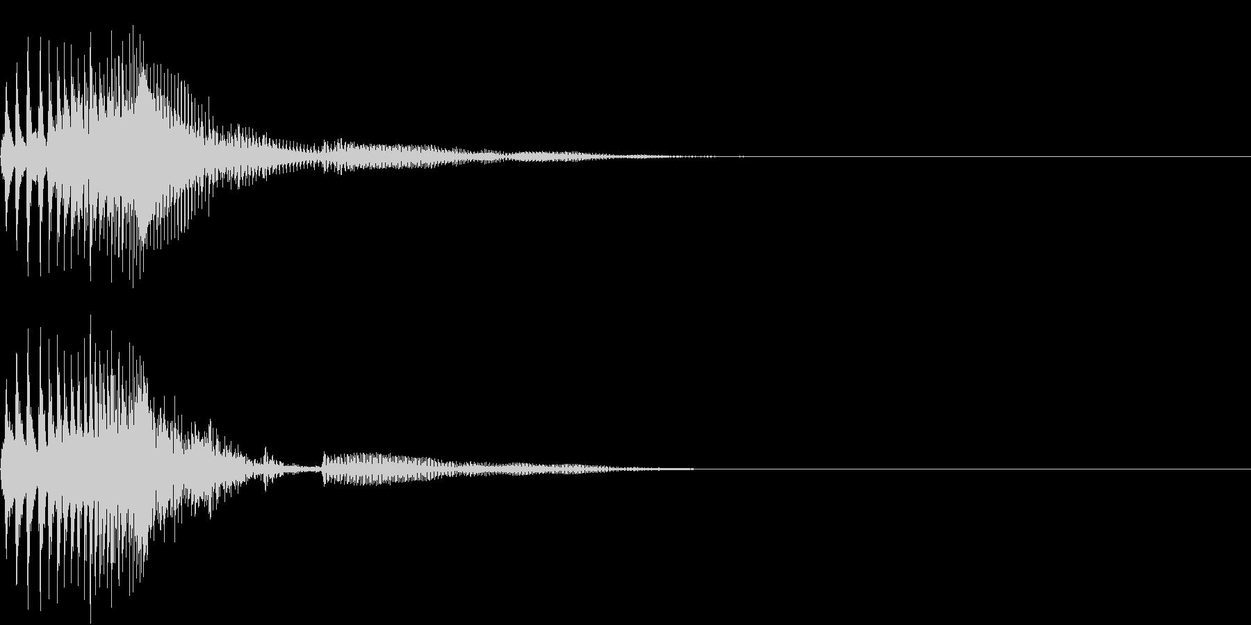 Zako ゲームのザコキャラの鳴き声 3の未再生の波形