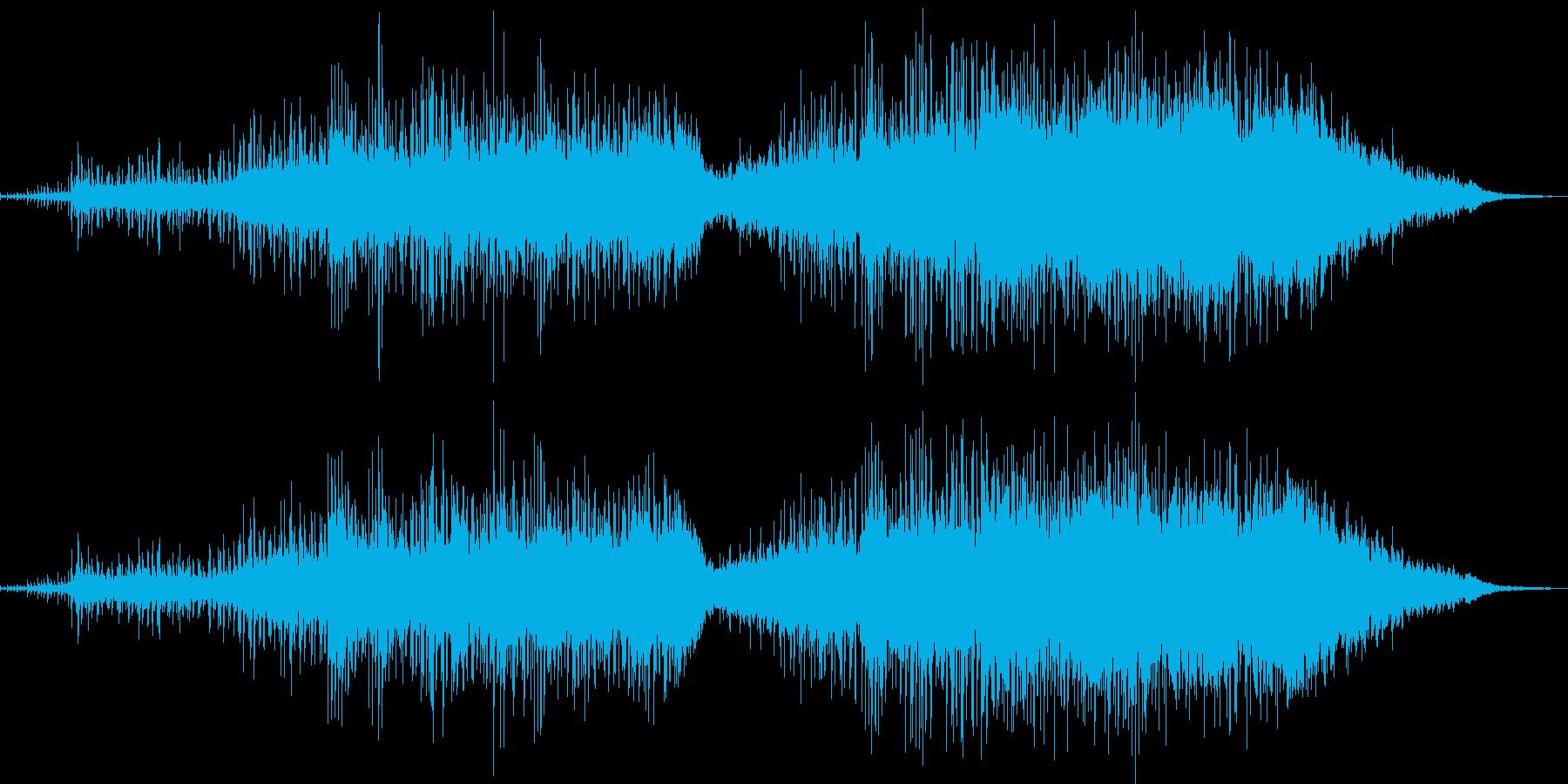 わくわくするエレクトロニック音楽の再生済みの波形