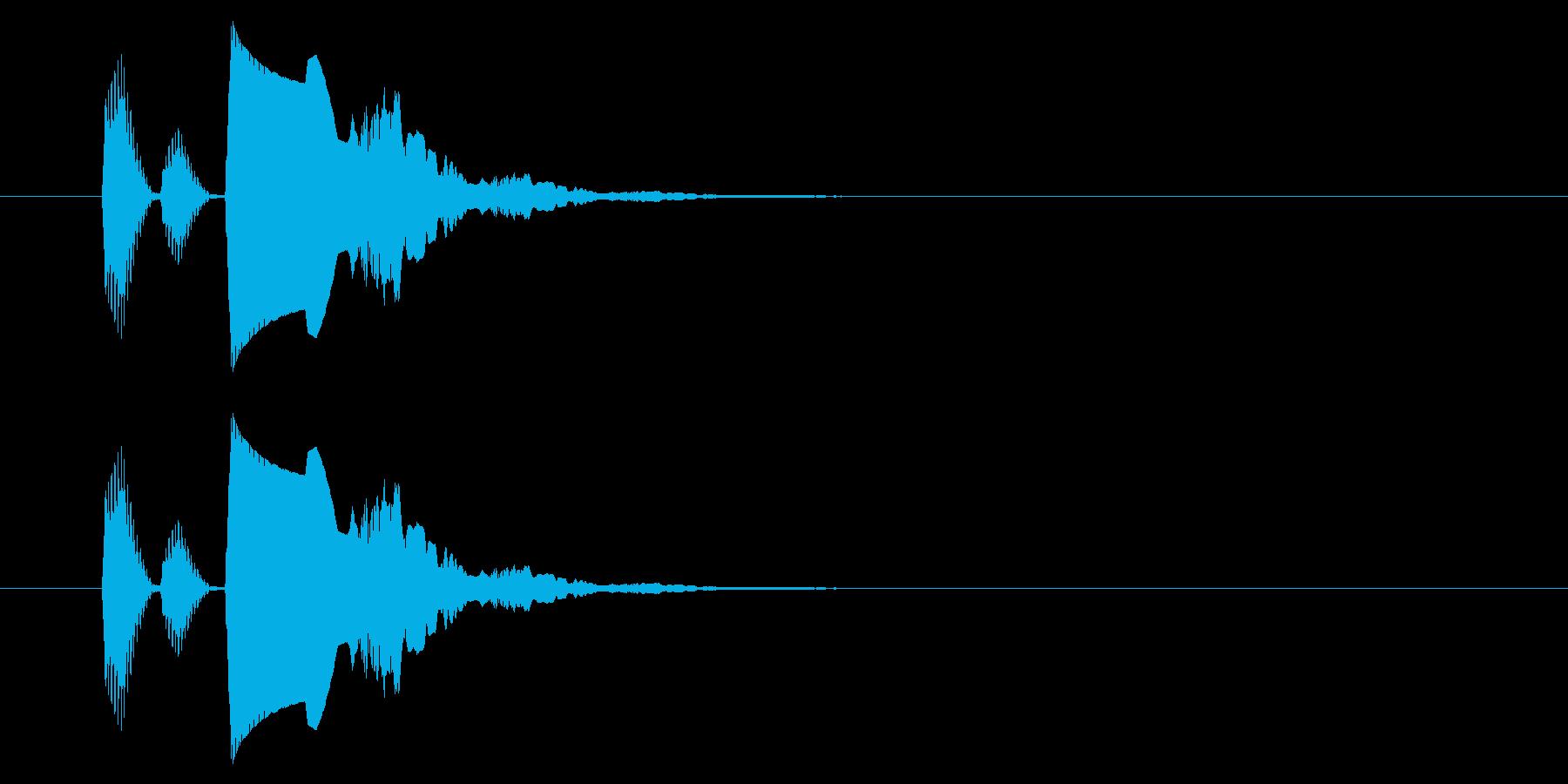 【アクセント42-2】の再生済みの波形