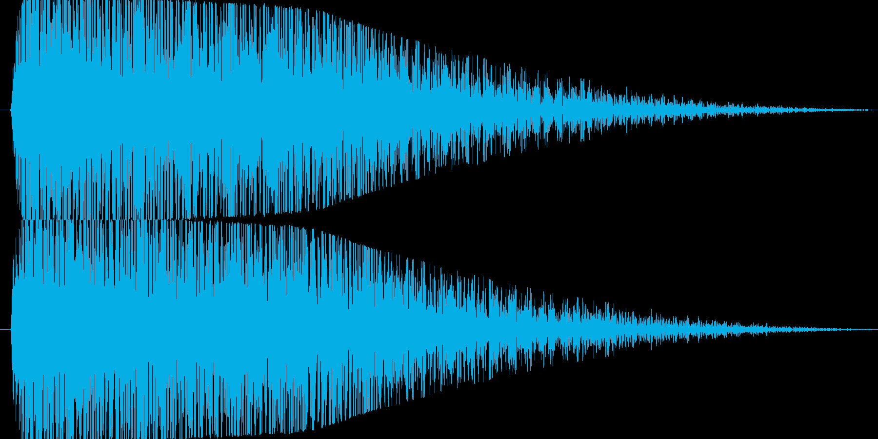 【爆音2(2秒に短縮)】大砲・ダメージ音の再生済みの波形