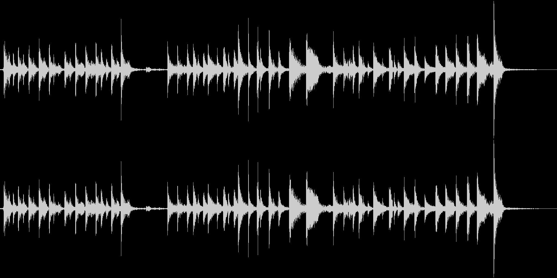 パーカッシブなギター2の未再生の波形