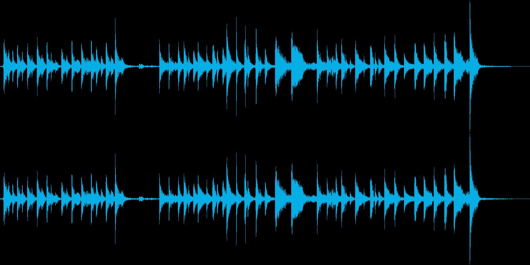パーカッシブなギター2の再生済みの波形