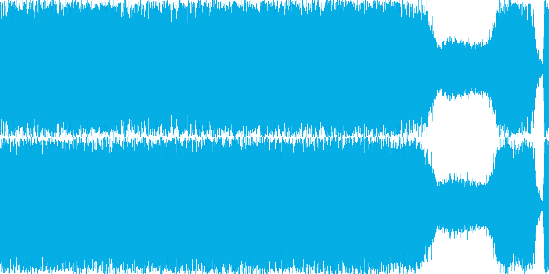 ノイズ的な宇宙をテーマに作りました。「…の再生済みの波形
