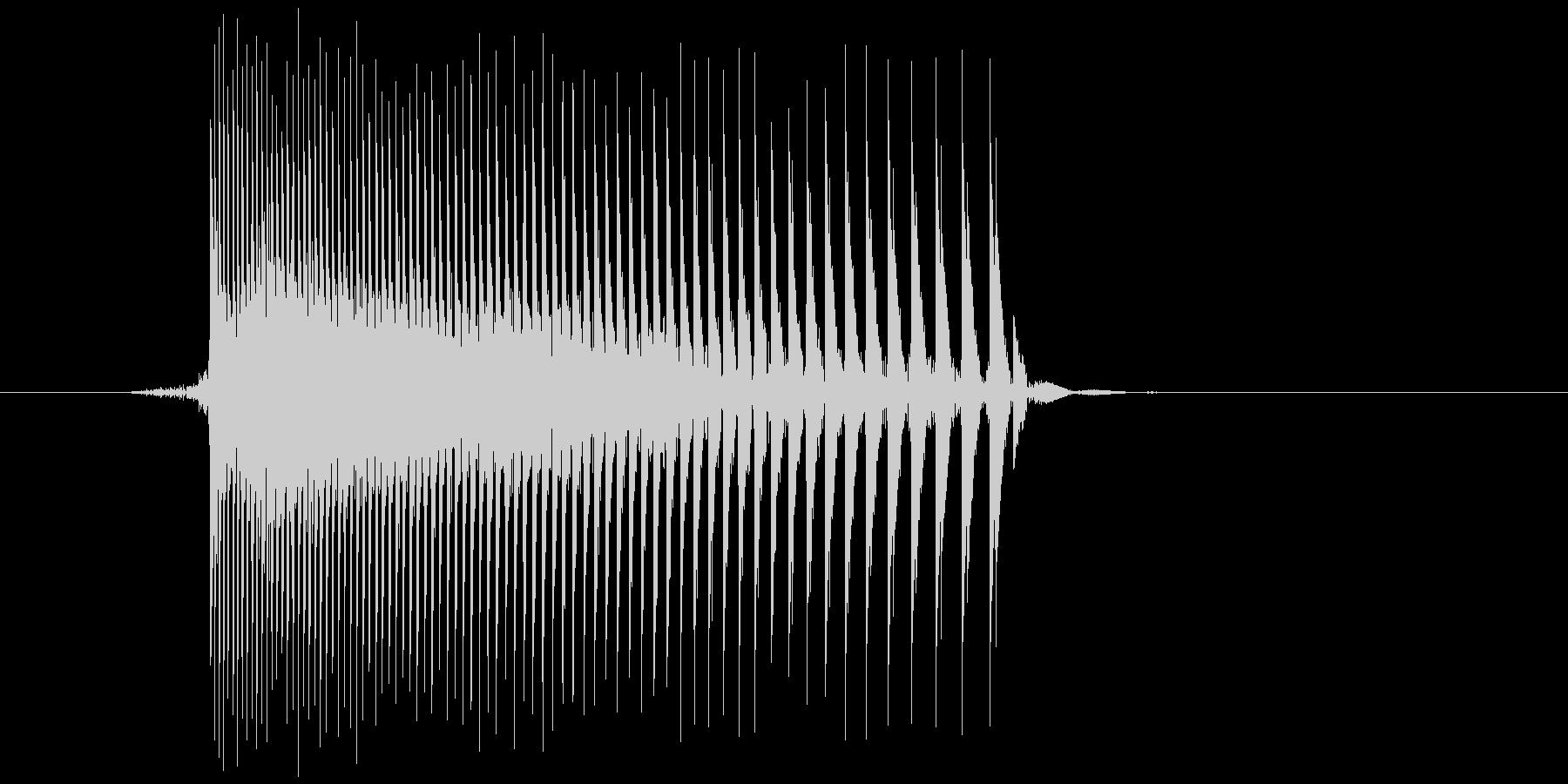 ゲーム(ファミコン風)レーザー音_022の未再生の波形