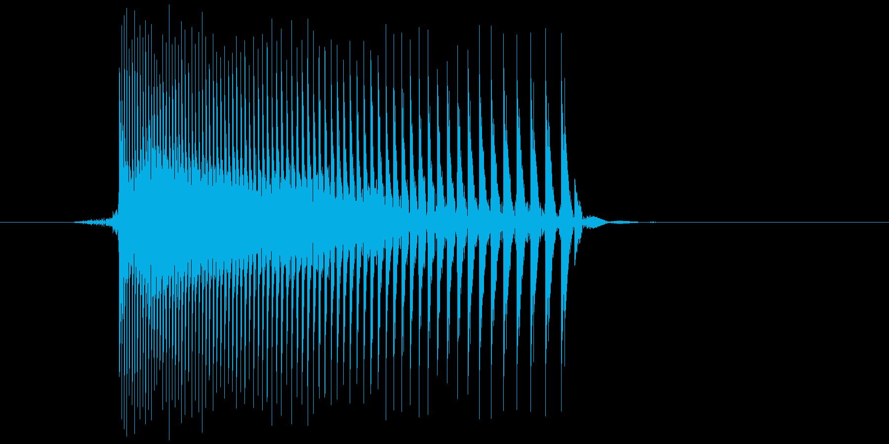 ゲーム(ファミコン風)レーザー音_022の再生済みの波形