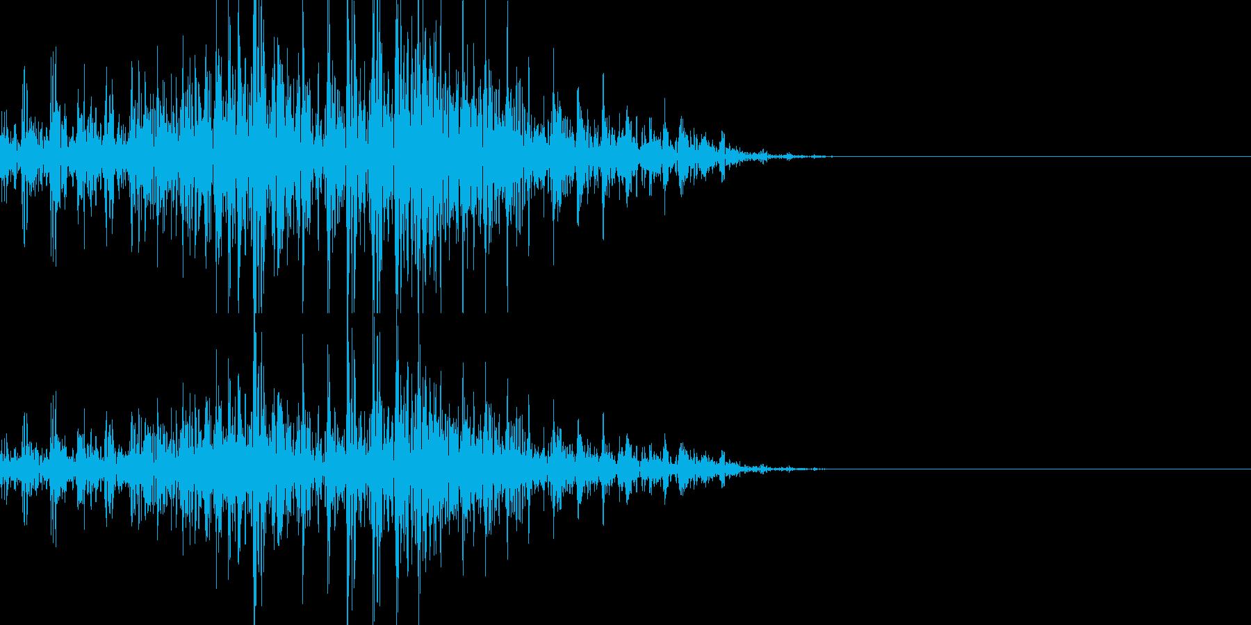 アフリカライオンのうなり声(構える)の再生済みの波形