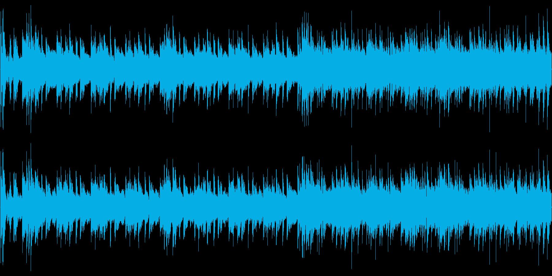 イントロ付きの爽快感のあるループ用BGMの再生済みの波形