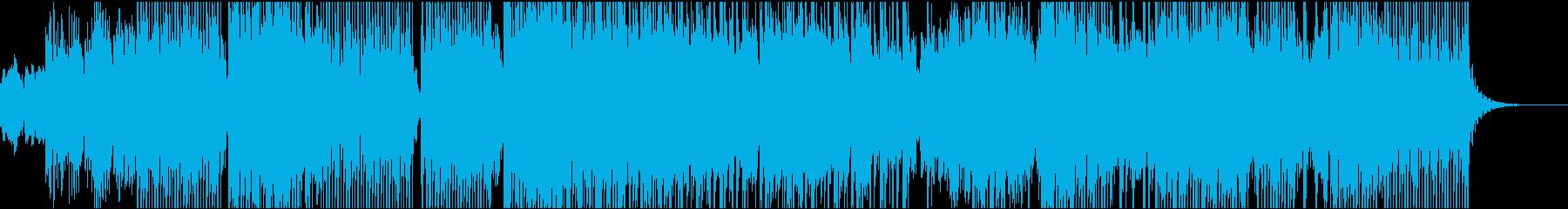電子オルガンダンスミュージックの再生済みの波形