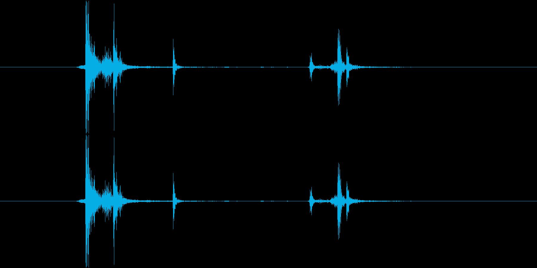 カチャ(金属)の再生済みの波形