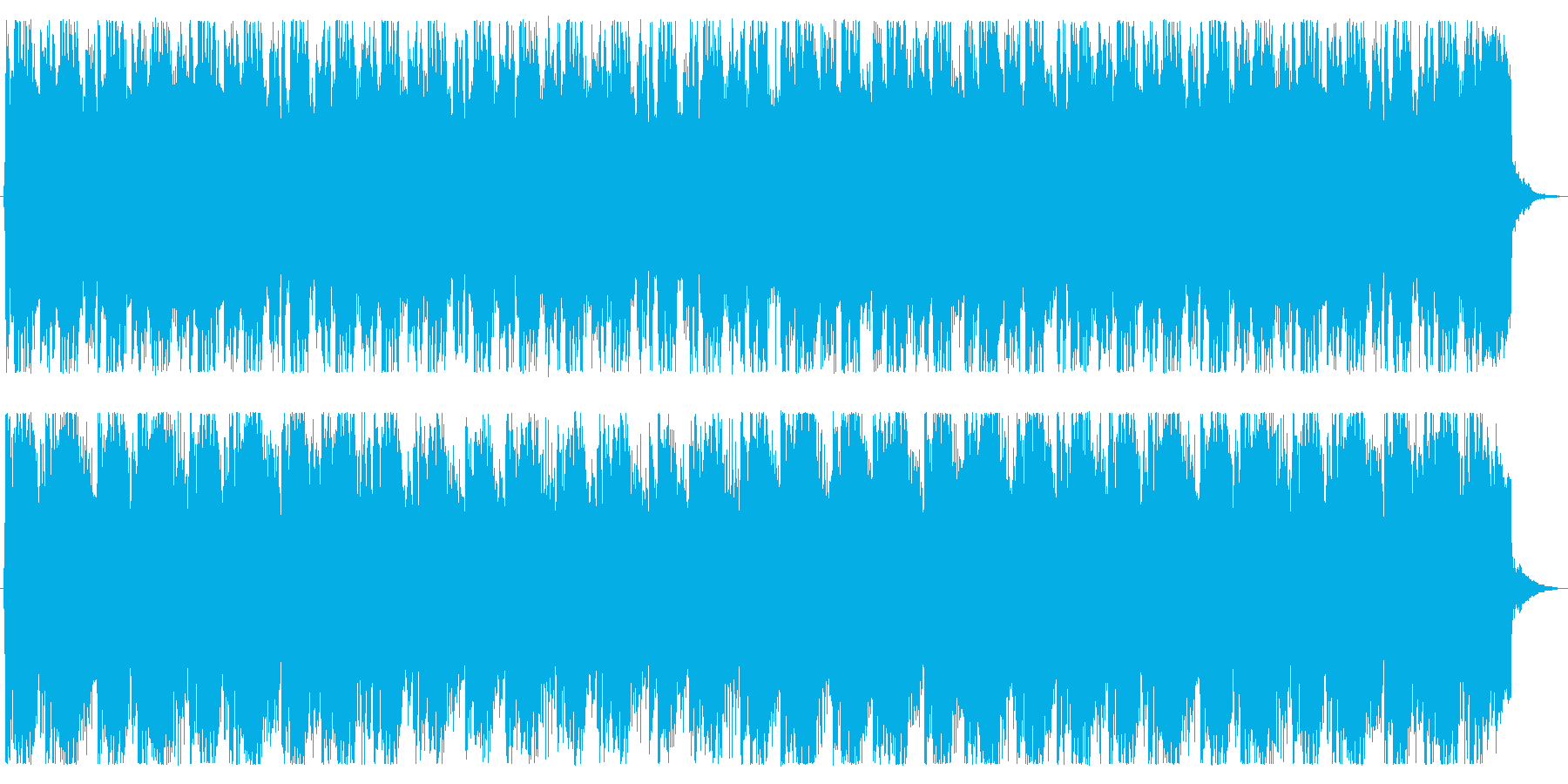 厳格な和風BGMの再生済みの波形