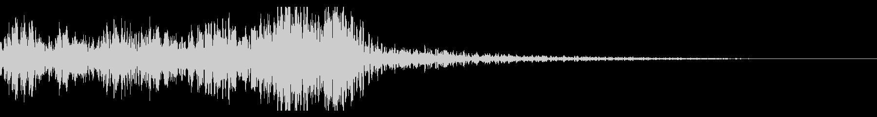 太鼓 和太鼓フレーズ ジングル ロゴ14の未再生の波形