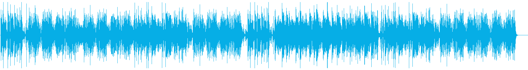 かわいいボサノバ風ポップスの再生済みの波形