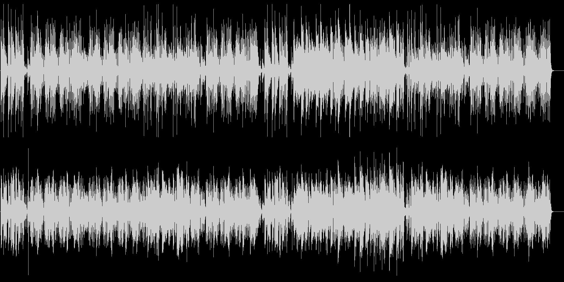かわいいボサノバ風ポップスの未再生の波形
