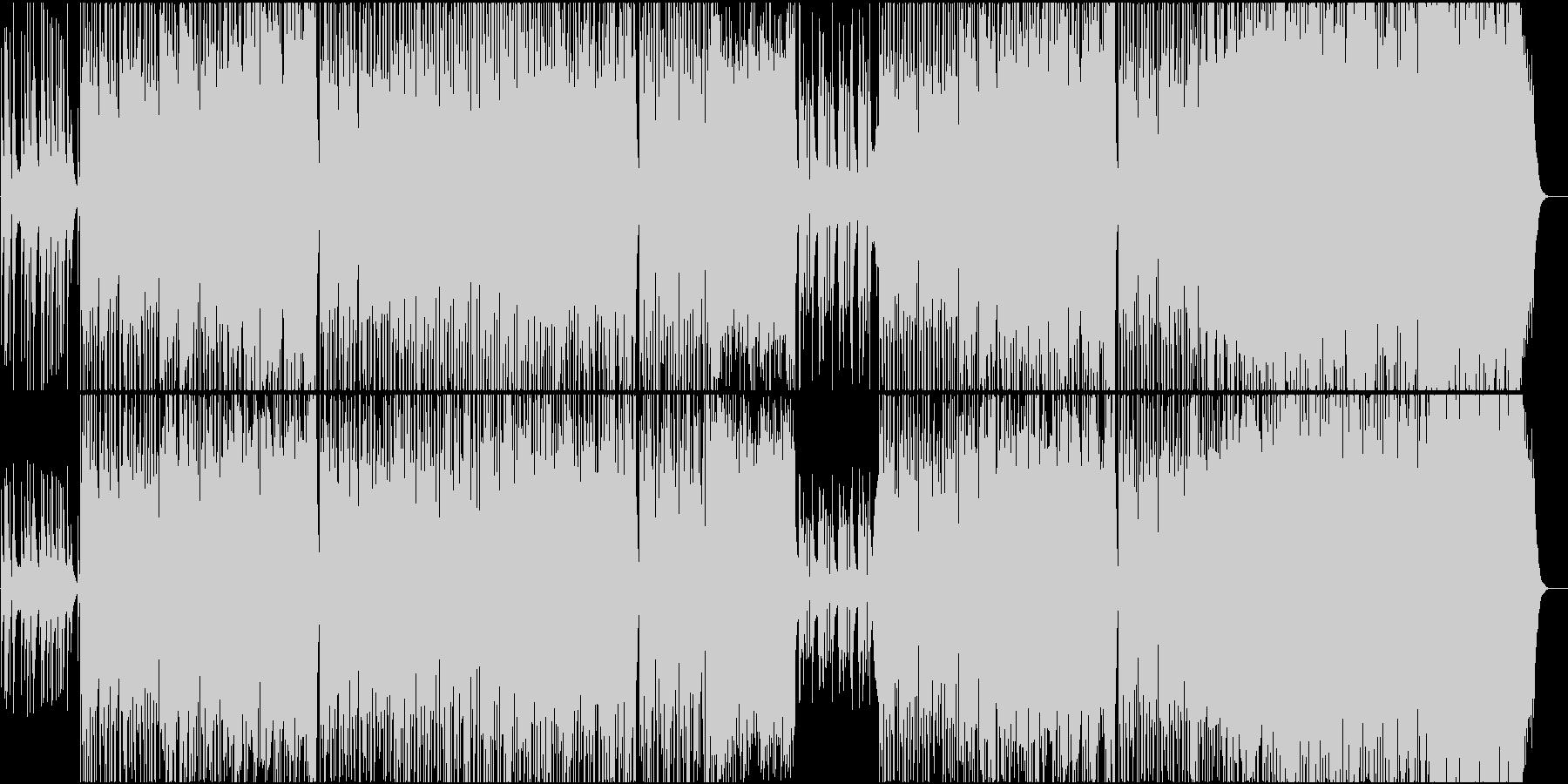 印象的な明るい曲の未再生の波形