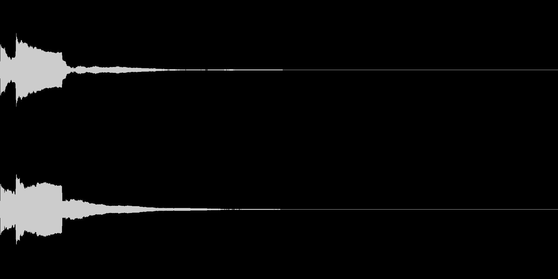 決定音40_シンセAEの未再生の波形