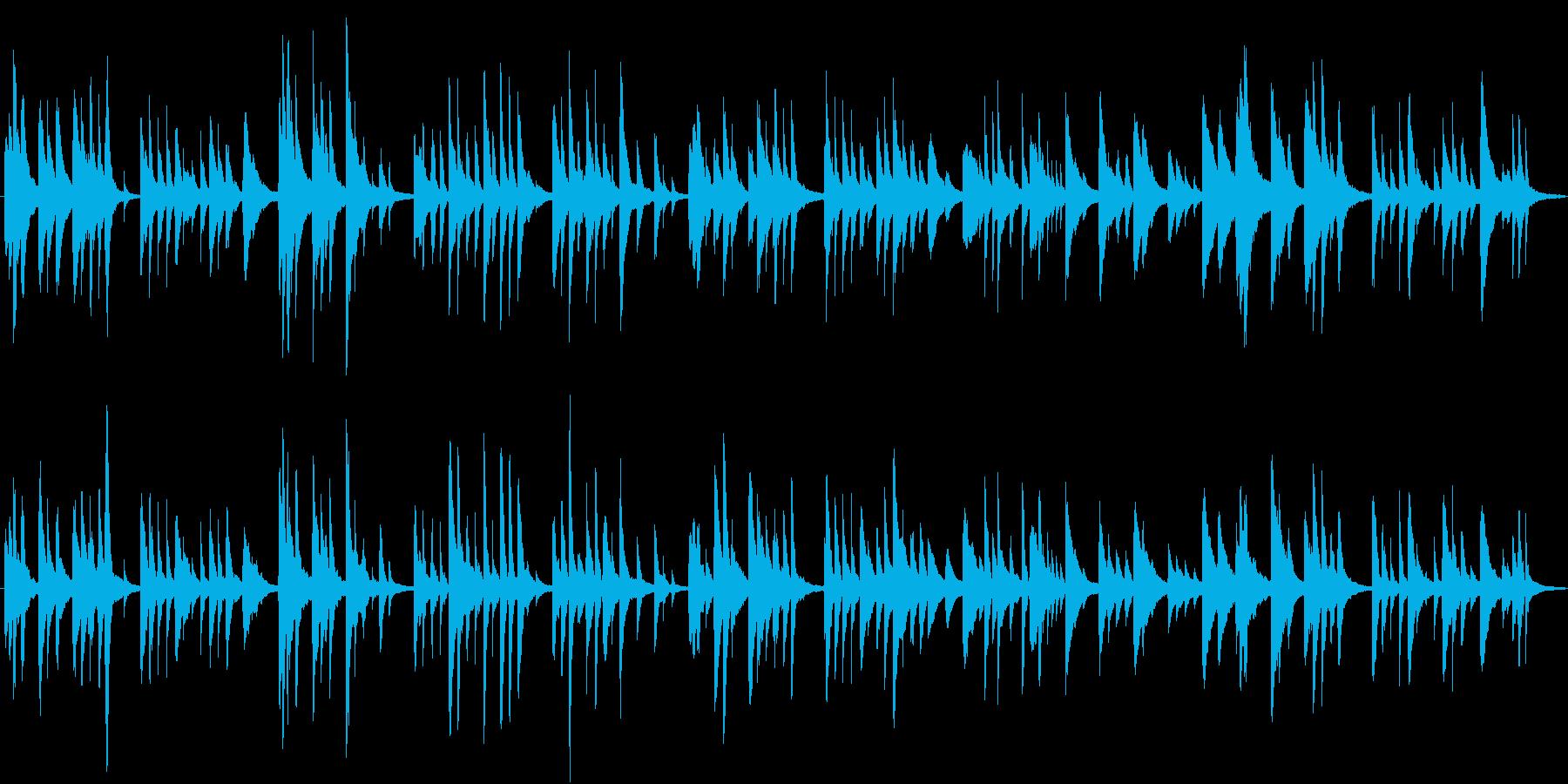 赤い靴 ピアノ 童謡の再生済みの波形