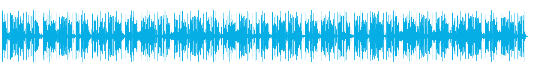 疾走感のある近未来的なミュージックの再生済みの波形