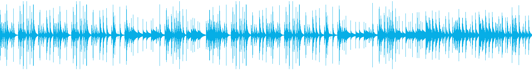 ほのぼの系BGM(ループ)の再生済みの波形