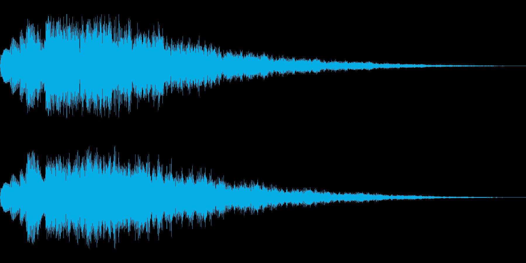キラキラしたSEです。決定音や回復にの再生済みの波形