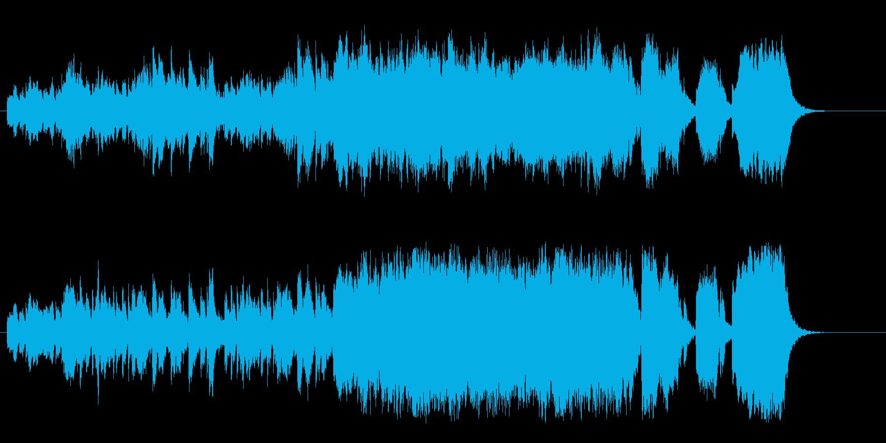 ほのぼのとしたクラシック・ミュージック風の再生済みの波形