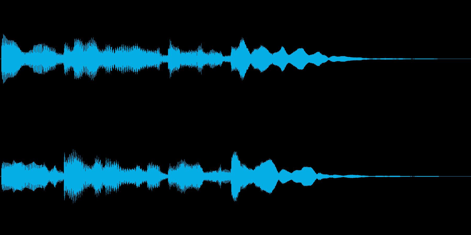 優しいエレピのジングルの再生済みの波形