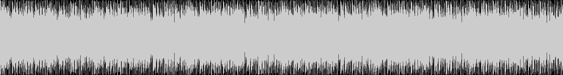 リズミックなポップBGM(ループ)の未再生の波形