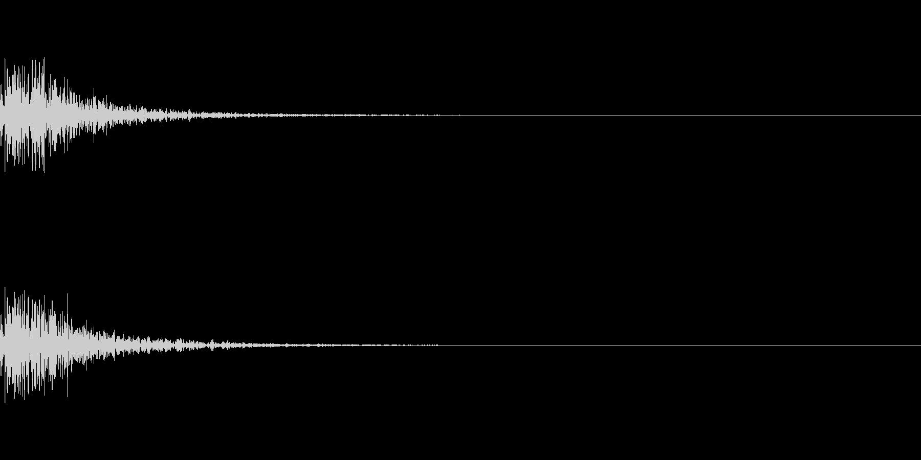 爆発音「ボカーン」の未再生の波形