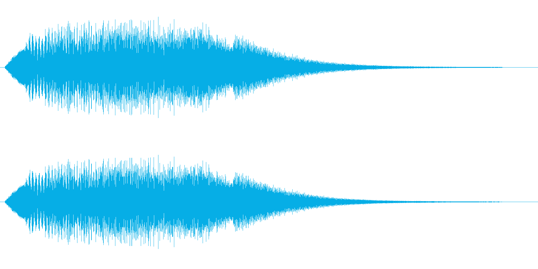 キラキラ(綺麗な上昇音)の再生済みの波形