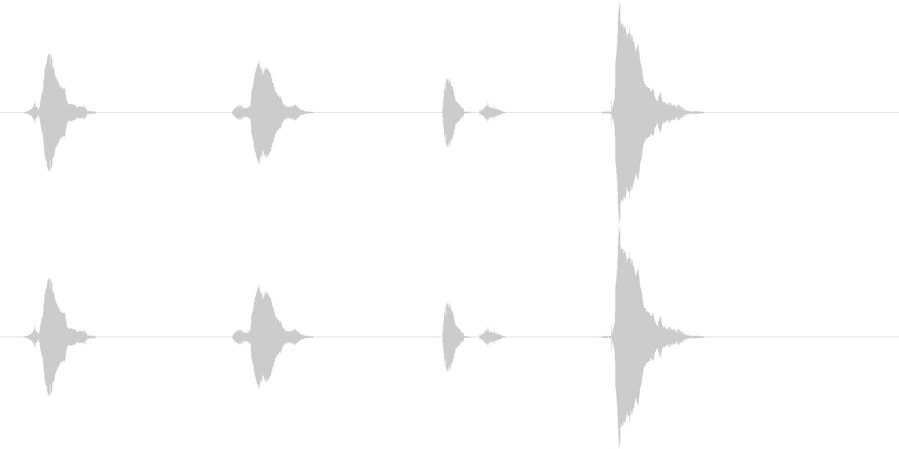 3(さん)・2(に)・1(いち)・GO…の未再生の波形