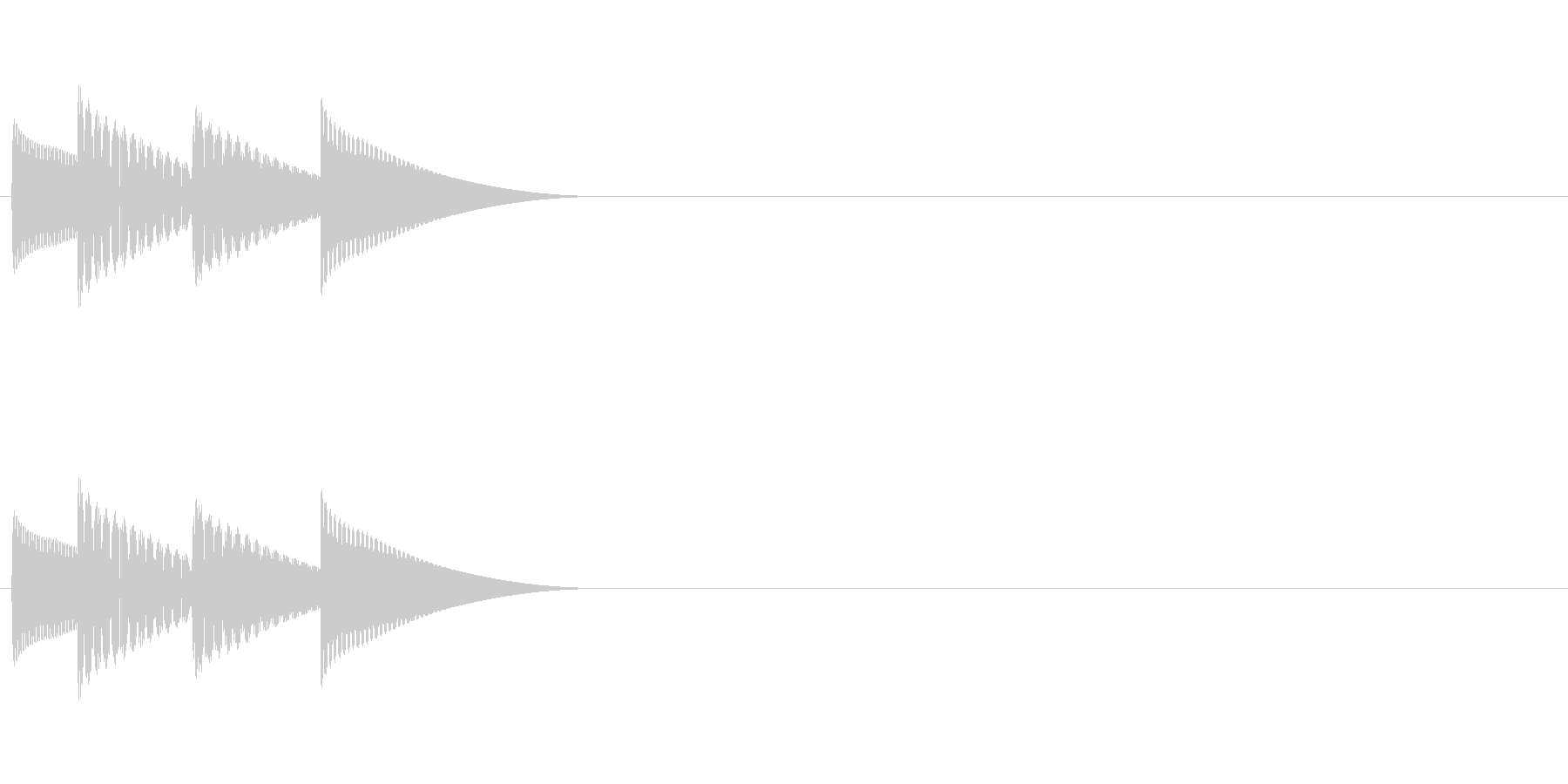 ゲームの決定音「ピロリン」の未再生の波形