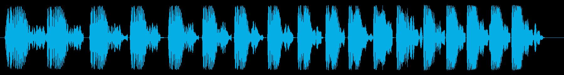 ポワポワポワ(コミカル)の再生済みの波形