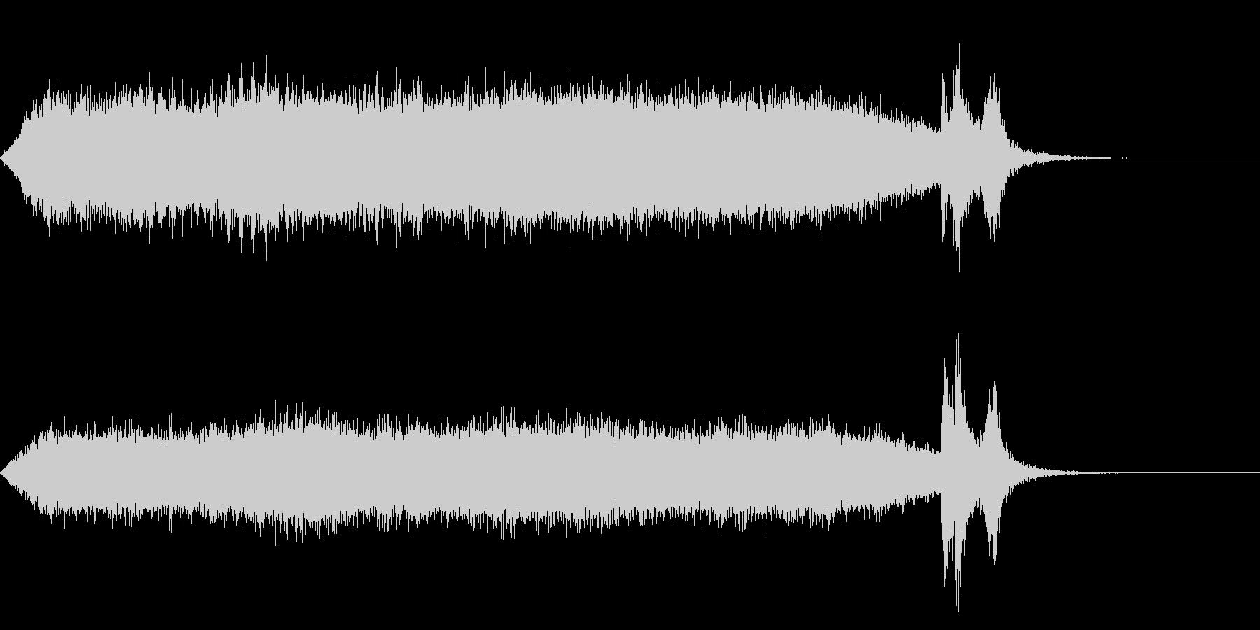 ワープ 宇宙的 未来的な効果音 02bの未再生の波形